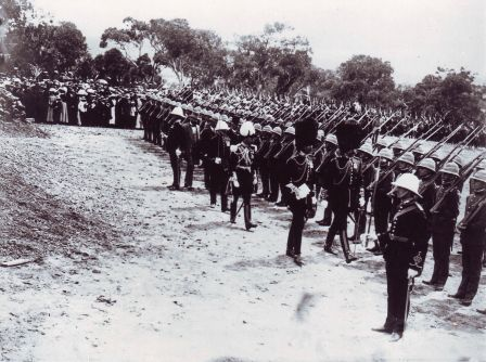 Denman inspects Guard of Honour 12 March 1913