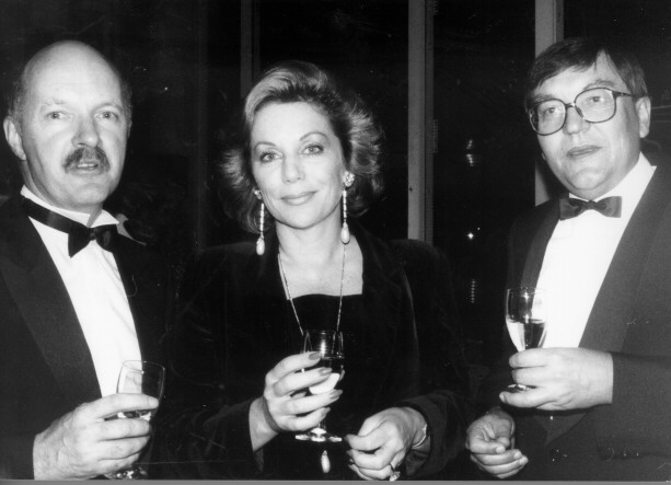 John Haslem, Ita Buttrose and Jim Service at the Canberra launch of an appeal for funds for the Australian National Gallery